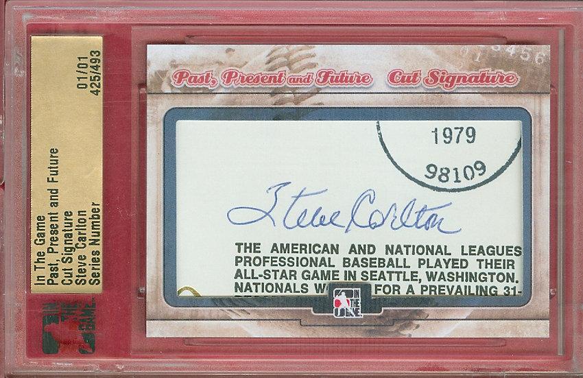 """""""Steve Carlton"""" SSP CUT SIGNATURE CARD #'ed 01/01"""
