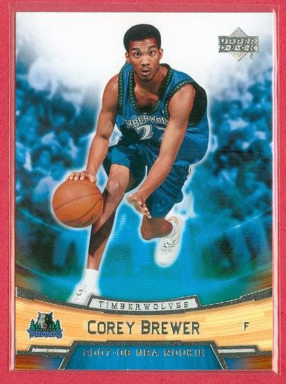 """""""Corey Brewer"""" UPPER DECK ROOKIE BOX SET CARD #3"""