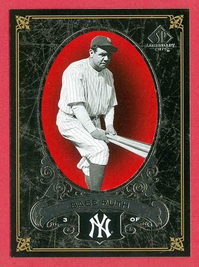 """Babe Ruth"" 2007 SP LEGENDARY CUTS CARD #54"