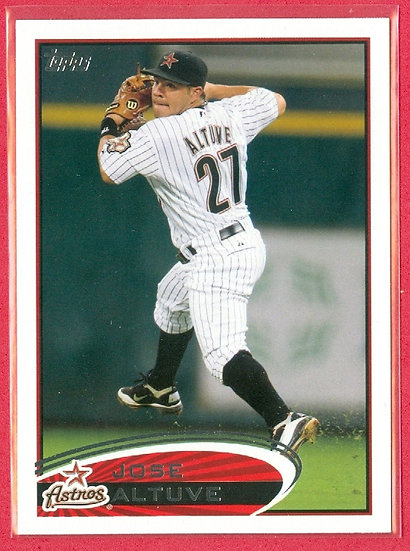 """Jose Altuve"" 2012 TOPPS 2nd YEAR CARD #187 ASTROS"