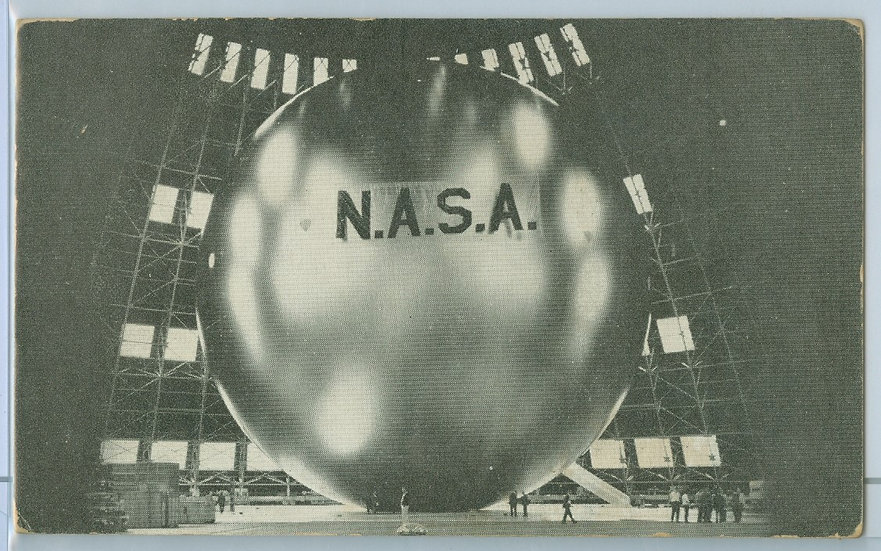 """ECHO I Satellite"" NASA PENNY ARCADE EXHIBIT CARD"