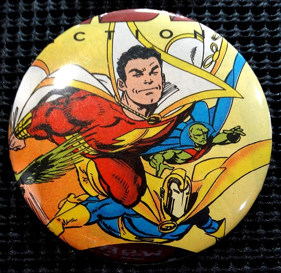 """SHAZAM/CAPTAIN MARVEL"" POP CULTURE 3"" PINBACK/PIN-BACK COMIC BUTTON"