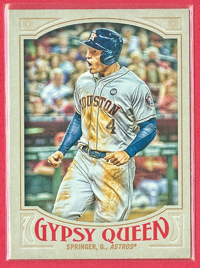 """George Springer"" 2016 TOPPS GYPSY QUEEN CARD #123"