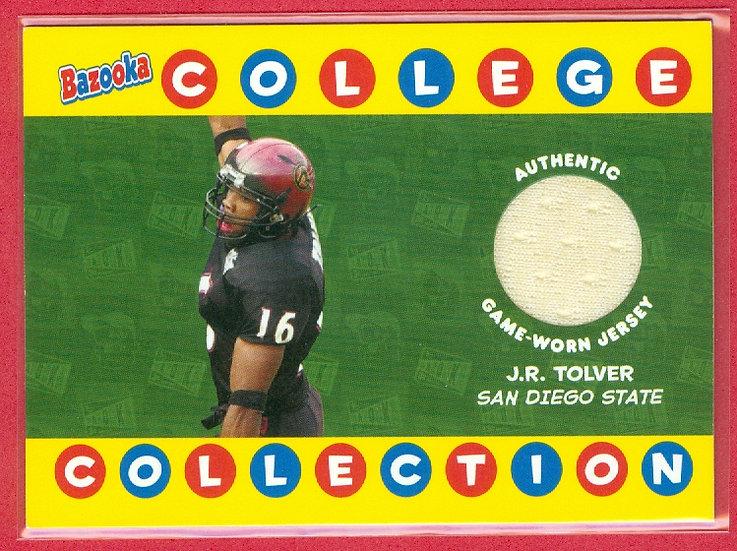 """J.R. Tolver"" SP COLLEGE JERSEY RC CARD #BCC-JRT"
