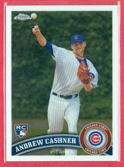 """Andrew Cashner"" 2011 TOPPS CHROME RC CARD #191"