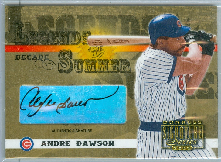 """Andre Dawson"" SSP AUTHENTIC AUTOGRAPH #ed 02/10"