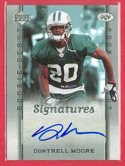 """DonTrell Moore"" ROOKIE DEBUT SP RC AUTO CARD #230"