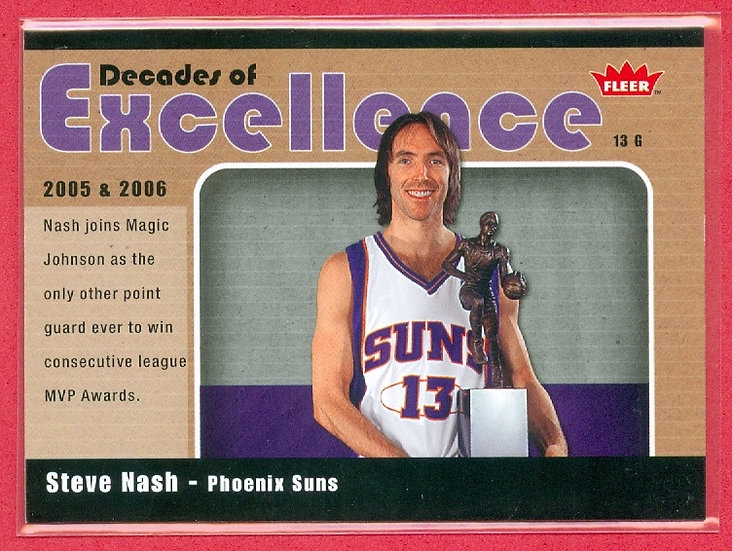 """""""Steve Nash"""" 2007-08 FLEER """"GLOSSY"""" CHASE CARD #16"""