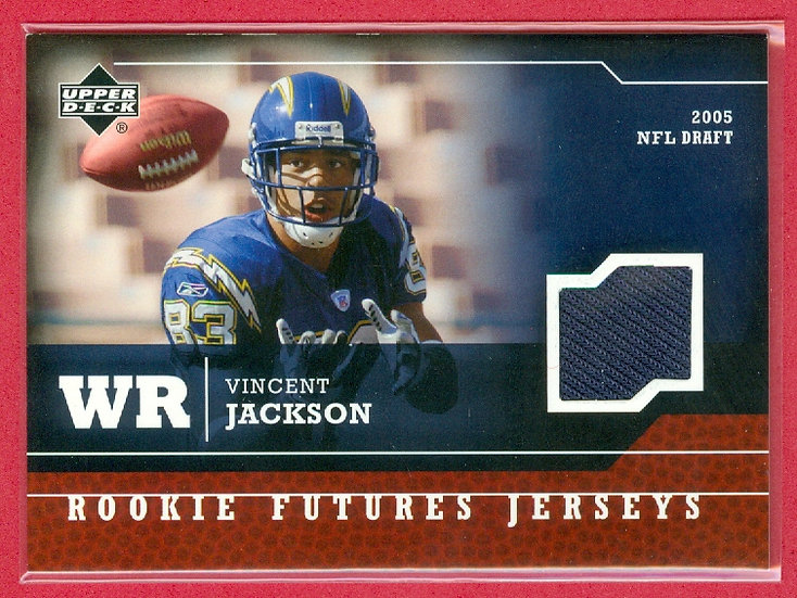 """Vincent Jackson"" SP RC JERSEY CHASE CARD #RF-VJ"