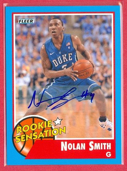 """Nolan Smith"" FLEER RETRO SP ROOKIE AUTOGRAPH CARD"
