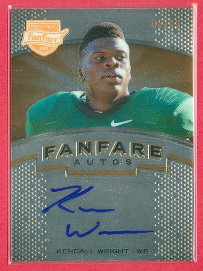 Kendall Wright COLLEGE RC AUTOGRAPH CARD #d 50/99
