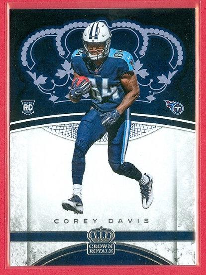 """Corey Davis"" CROWN ROYALE ROOKIE CARD #85"