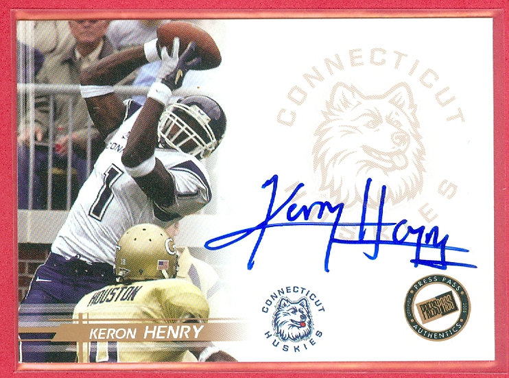 """Keron Henry"" SP COLLEGE RC AUTO CHASE CARD #NNO"