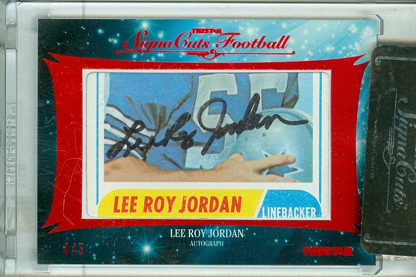 """Lee Roy Jordan"" AUTHENTIC CUT SIGNATURE #d 4/5"