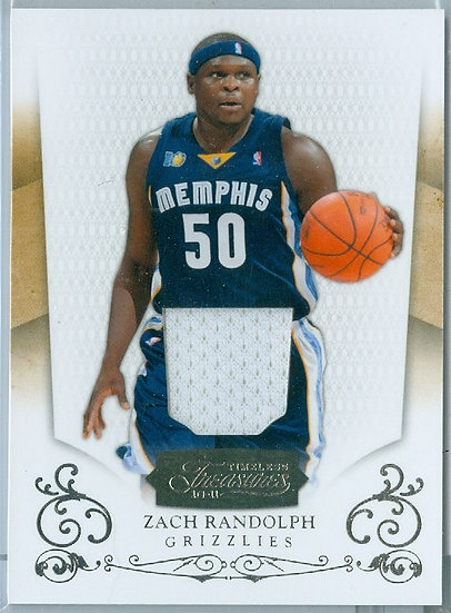 """Zach Randolph"" SP GAME-WORN JERSEY CARD #d 82/99"