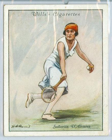 """SENORITA LILI D'ALVAREZ"" 1931 TOBACCO CARD #9"