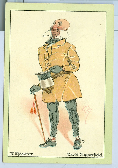 """1914 """"CHARACTERS From DICKENS"""" TOBACCO CARD"""