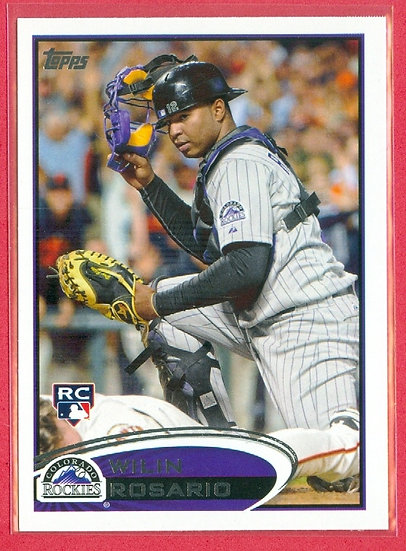"""Wilin Rosario"" 2012 TOPPS (BB) RC CARD #184"