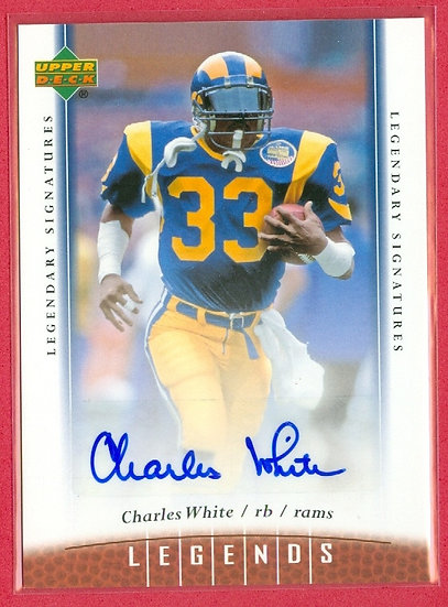 """Charles White"" LEGENDS AUTOGRAPH CHASE CARD #72"