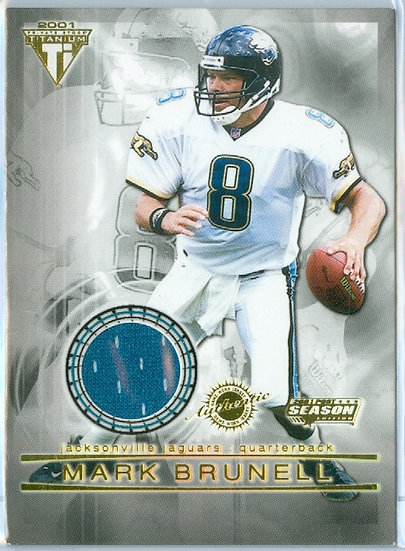 """""""Mark Brunell"""" GAME-USED/WORN JERSEY CARD #51"""