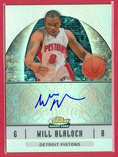 """""""Will Blalock"""" SP RC AUTOGRAPH CHROME CARD"""
