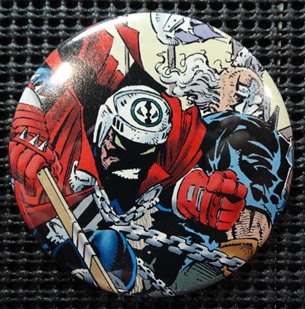 """SPAWN/The CLOWN"" POP CULTURE 3"" PINBACK/PIN-BACK COMIC BUTTON"