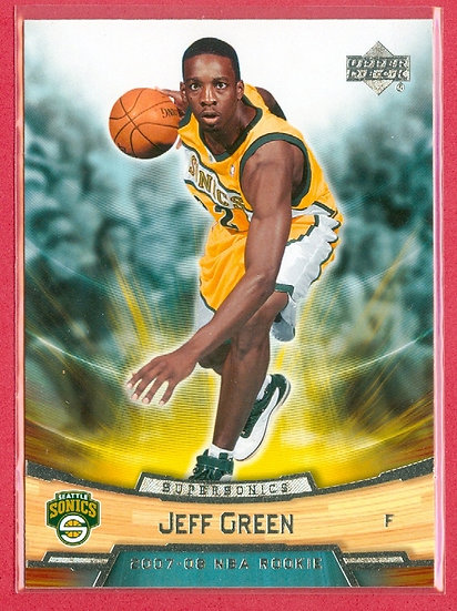 """Jeff Green"" UPPER DECK ROOKIE BOX SET CARD #13"