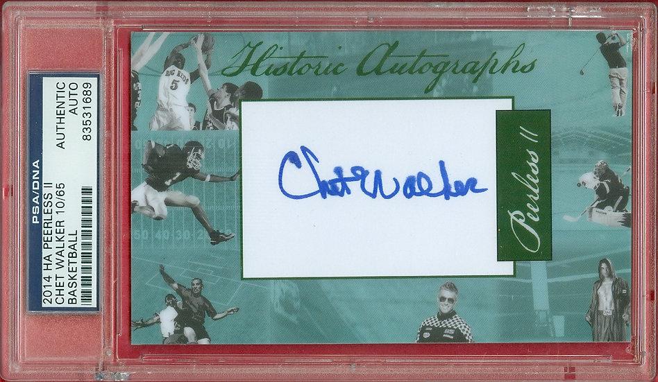 """""""Chet Walker"""" HOF SP CUT SIGNATURE CARD #'ed 10/65"""