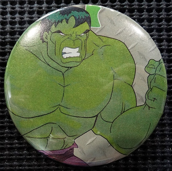 """The INCREDIBLE HULK/AVENGERS"" POP CULTURE 3"" PINBACK/PIN-BACK COMIC BUTTON"
