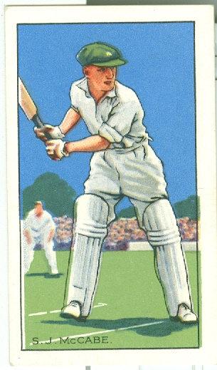 "1935 CHAMPIONS ""S.J. McCabe"" TOBACCO CARD #26"