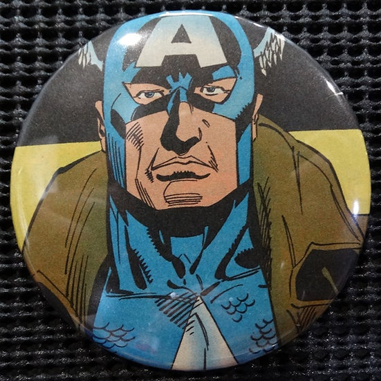 """CAPTAIN AMERICA/AVENGERS"" POP CULTURE 3"" PINBACK/PIN-BACK COMIC BUTTON"
