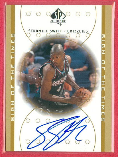 """""""Stromile Swift"""" SP ROOKIE AUTOGRAPH CHASE CARD"""