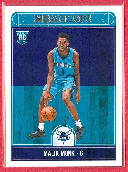 """""""Malik Monk"""" 2017-18 NBA HOOPS RC CARD #261"""