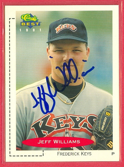 """Jeff Williams"" RC IN PERSON/THROUGH THE MAIL AUTO"