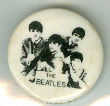 "1964 NEMS ""The BEATLES"" 1"" METAL PIN / BUTTON"