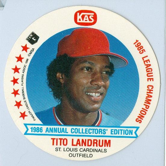 """1986 KAS """"Tito Landrum"""" DIE-CUT Disc Card #3"""