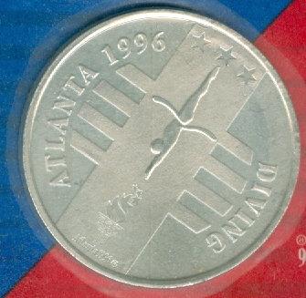 1996 ATLANTA OLYMPIC SPORTS DIVING MEDALLION