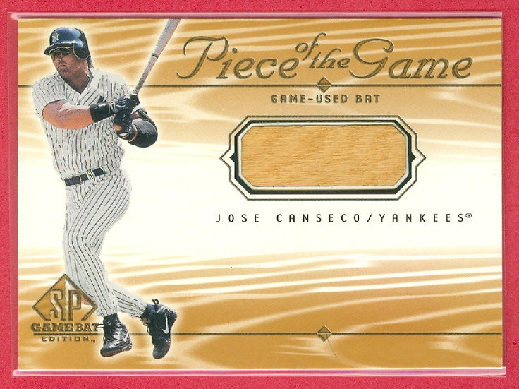 """""""Jose Canseco"""" SP GAME-USED BAT RELIC CARD"""