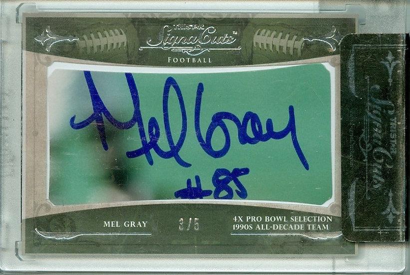 """Mel Gray"" AUTHENTIC CUT SIGNATURE CARD #d 3/5"