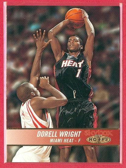 """Dorell Wright"" NBA HOOPS SP RC CARD #ed 0357/1750"