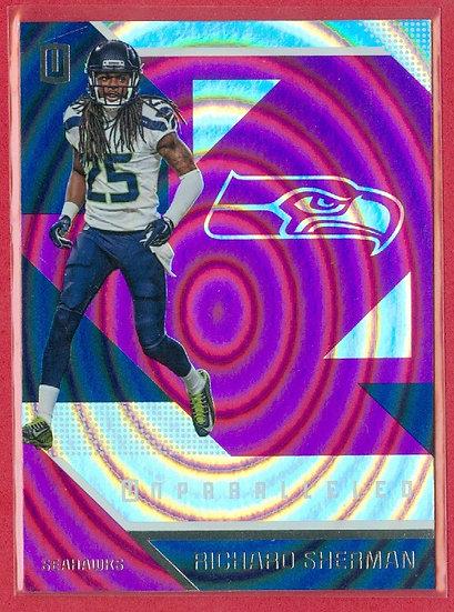 Richard Sherman 2016 UNPARALLELED PURPLE CARD #132
