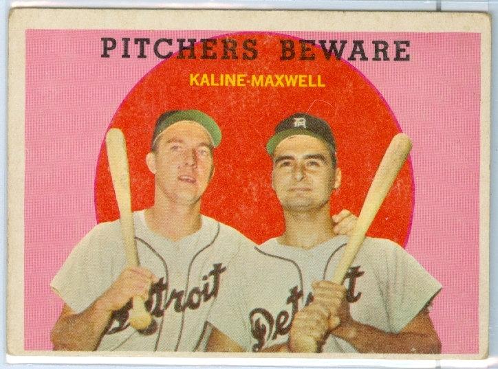 "1959 TOPPS ""Al Kaline/Charley Maxwell"" Card #34"