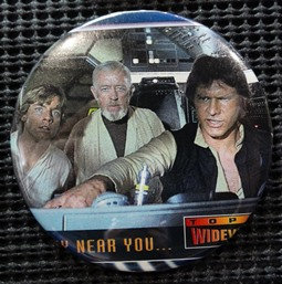 """STAR WARS"" POP CULTURE 3"" PINBACK/PIN-BACK COMIC BUTTON"