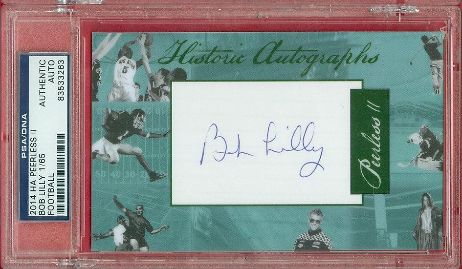 """Bob Lilly"" HOF SP CUT SIGNATURE CARD #d 1/65"