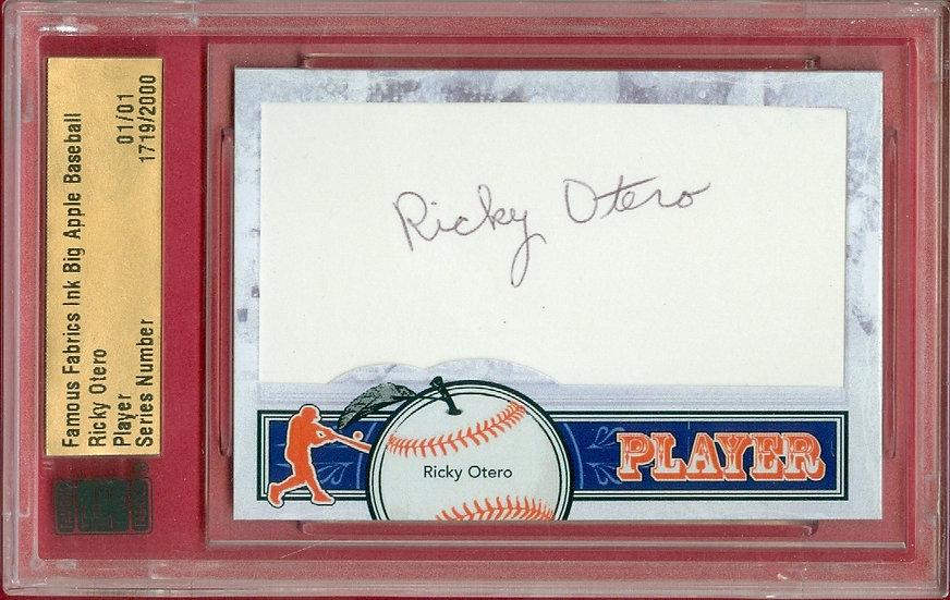 """Ricky Otero"" SSP CUT SIGNATURE CARD #'ed 01/01"