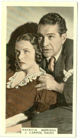Patricia Morison & J Carrol Naish TOBACCO CARD #52