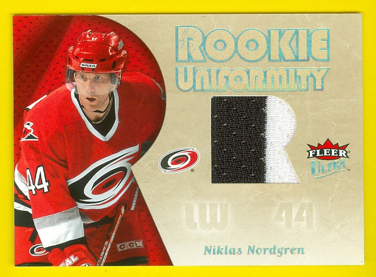 """Niklas Nordgren"" 2-COLOR RC JERSEY CARD #RU-NN"