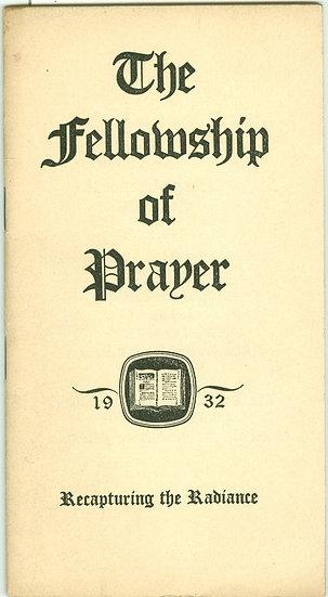 "1932 ""The FELLOWSHIP of PRAYER"" POCKET BOOK"