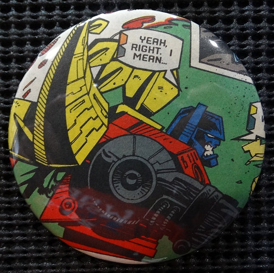 """TRANSFORMERS/DINOBOTS"" POP CULTURE 3"" PINBACK/PIN-BACK COMIC BUTTON"