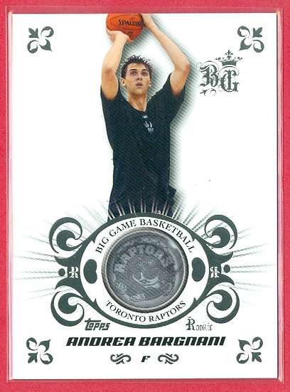 """""""Andrea Bargnani"""" SP RC CHASE CARD #'ed 481/579"""